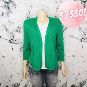 💖3/$30💖 89th & Madison Open Front Light Cardigan Green